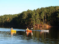 Kayaking in lake Iskar