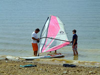 Windsurfing on lake Iskar